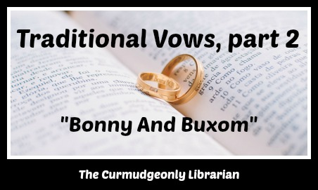 wedding vows the curmudgeonly librarian
